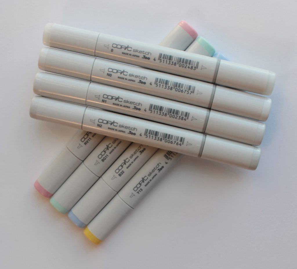 My top 10 most frequently used for bullet journalling copic markers