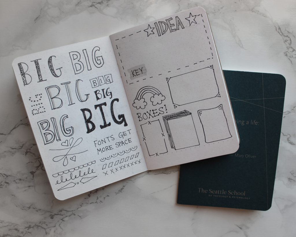 A Small Notebook Helps Catalog Your Hand Lettering And Doodle Skills