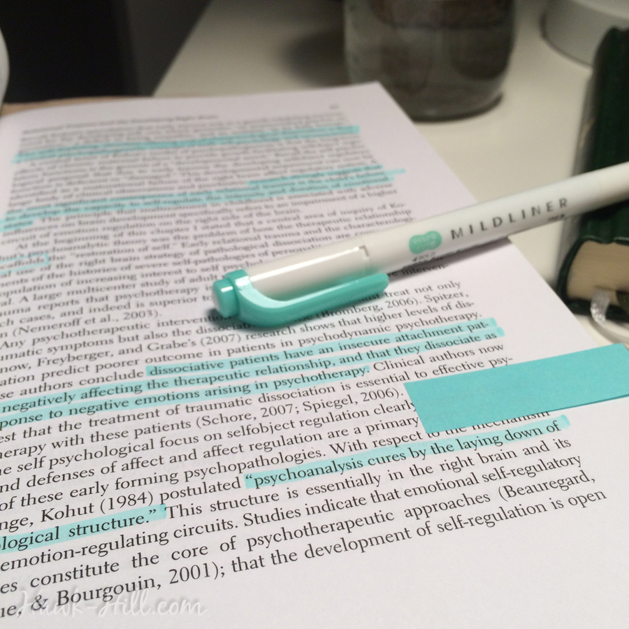 Studying neurobiology taught me just how important it is to have a print copy of readings that can be interacted with in a tactile way.