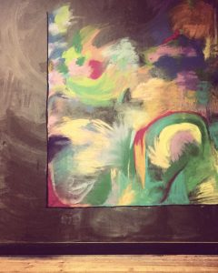 Art Therapy Project - Chalkboard Abstract Art