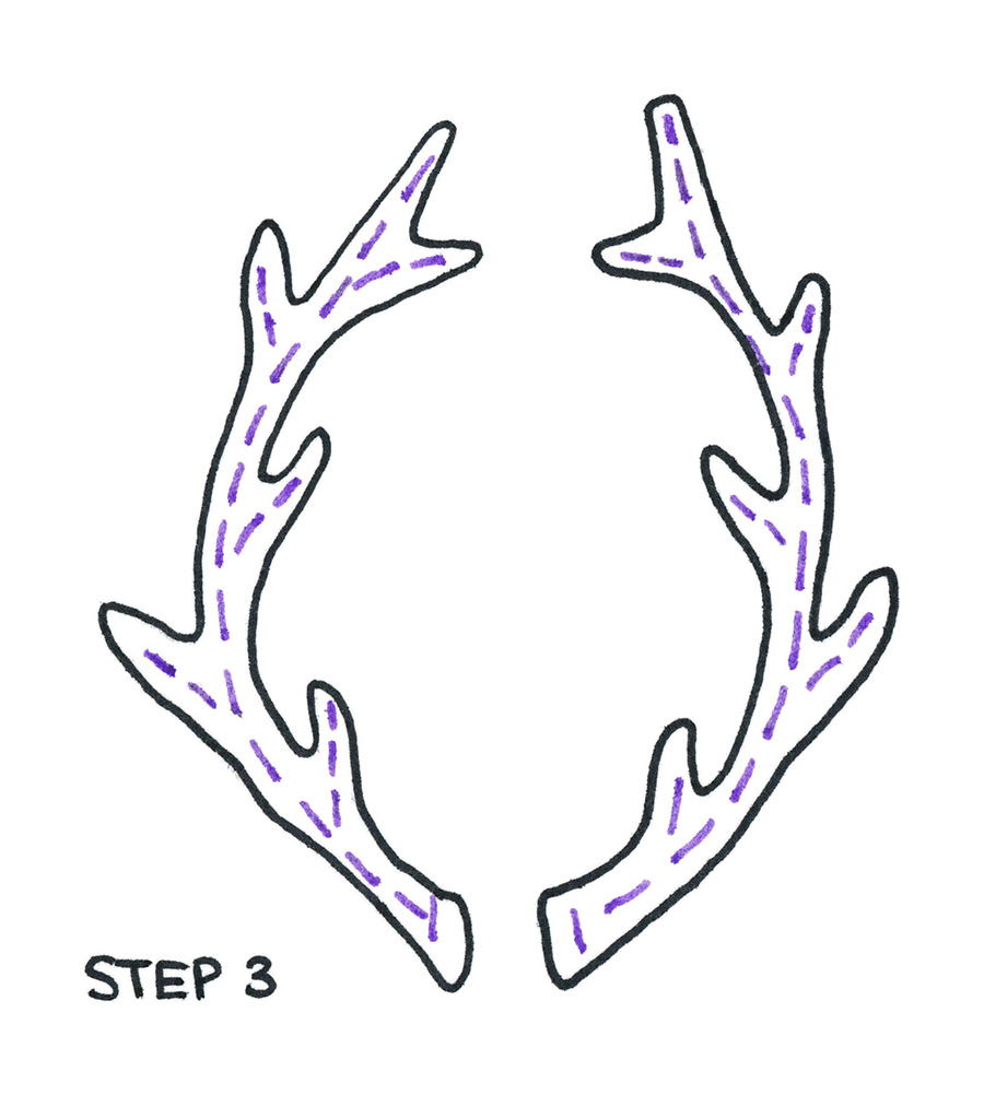 deer antlers drawing easy - photo #5