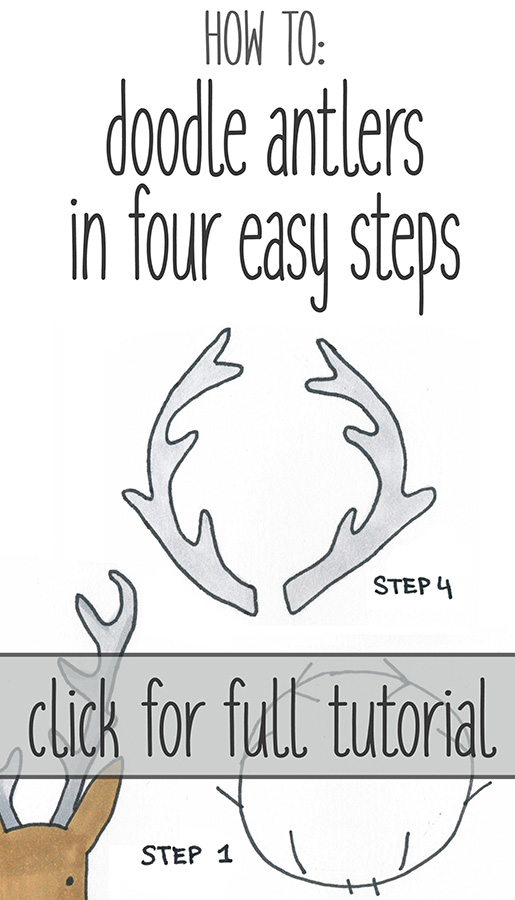 Practice these four steps to learn to draw perfect antlers every time