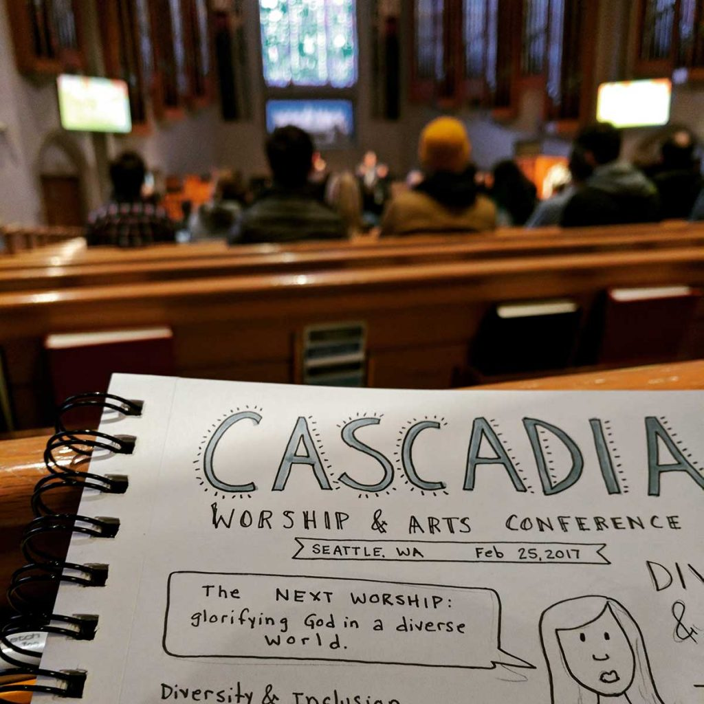 small format sketchnotes from the Cascadia conference