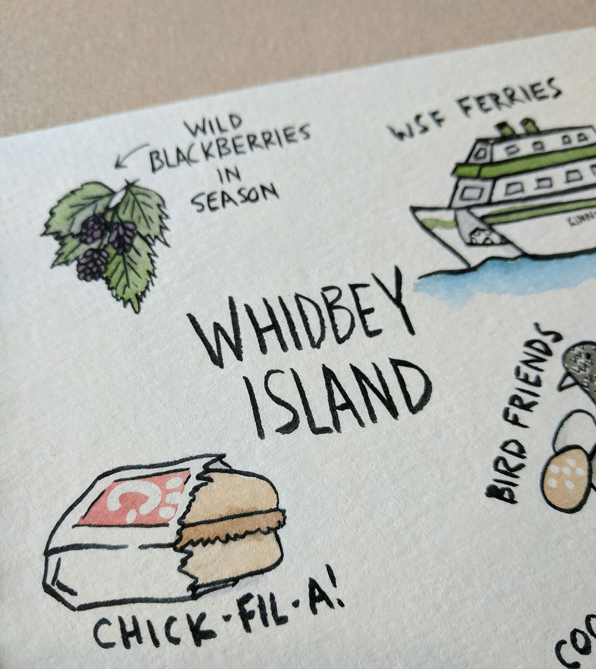 Whidbey doesn't have a Chick-Fil-A, but grabbing some chicken as we head north from Seattle is always a part of this trip.