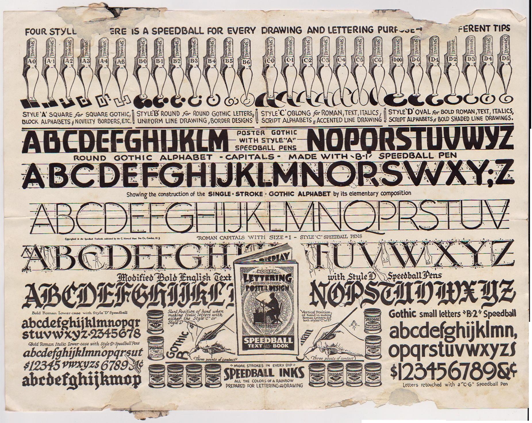 Vintage Hand Lettering Instructions