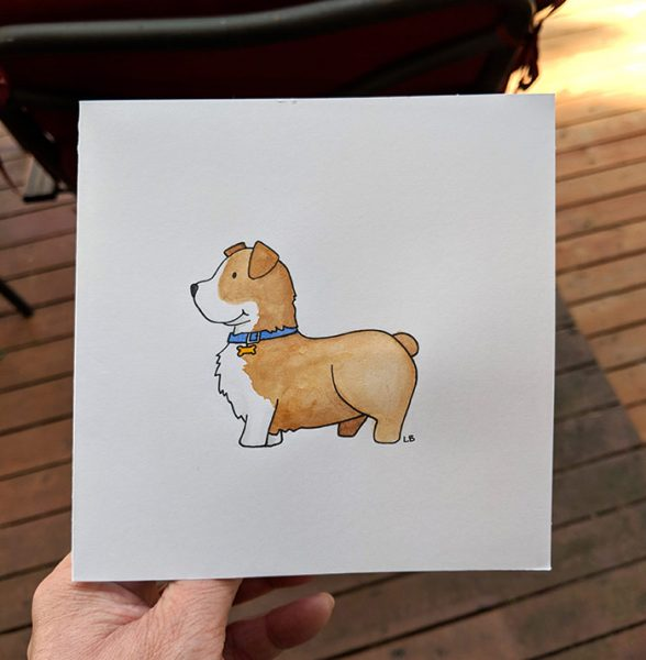 When you hire an artists to dogsit pet portraits just kinda happen