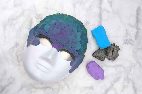 Expressive Art mask making with air dry clay