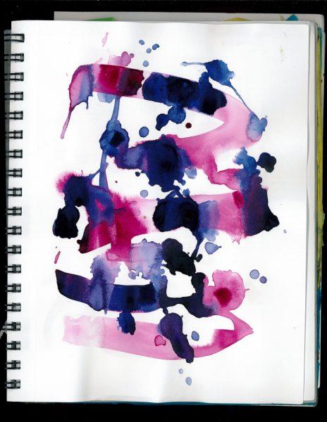 Fluid Acrylic Expressive Art Splash