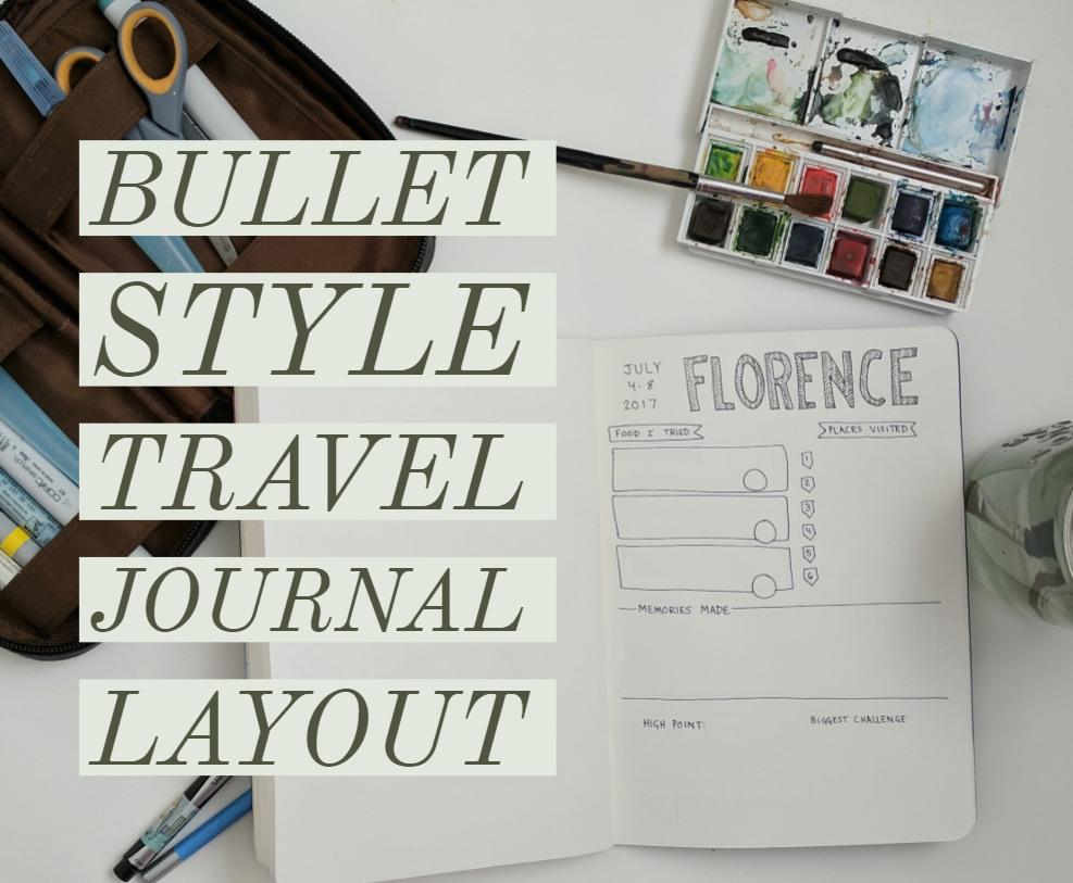 Bullet Journal Travel Layout