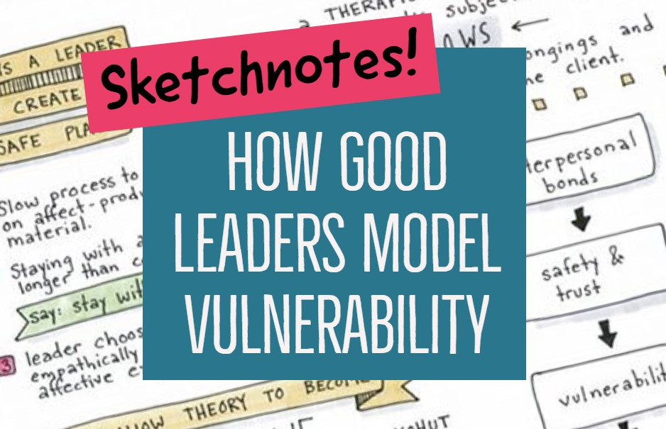 Good group leadership requires vulnerability- but how can a leader be vulnerable in a way that empowers others?