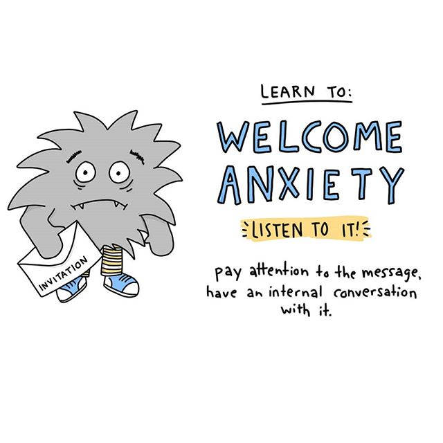 Anxiety isn't our enemy. It's so easy to slip into a cycle where we have anxiety, then have anxiety about having anxiety, have anxiety about that, etc until our world gets very small.