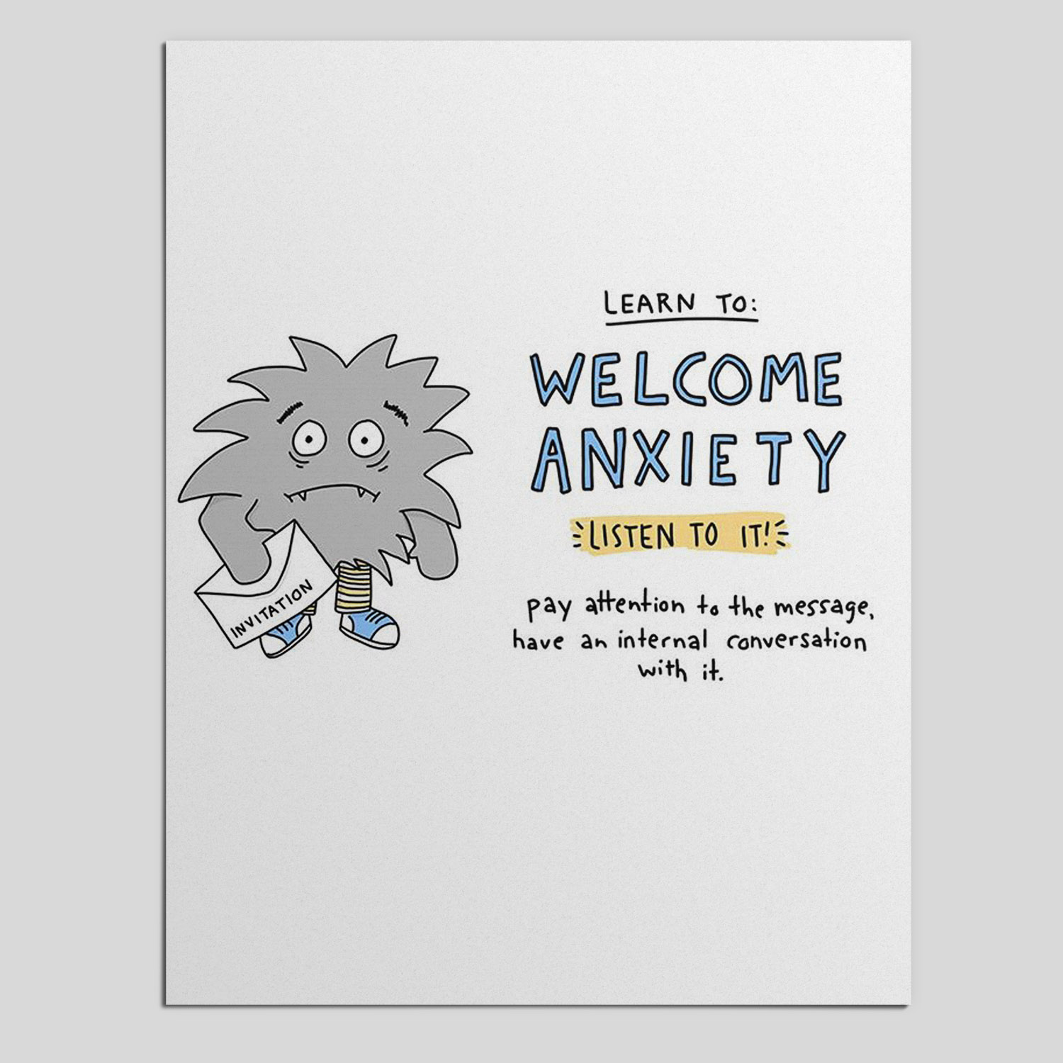 Learn to Welcome Anxiety