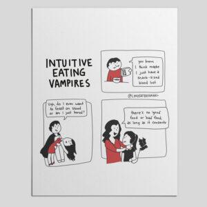 PDF Download, Illustration Series: Intuitive Eating Vampires