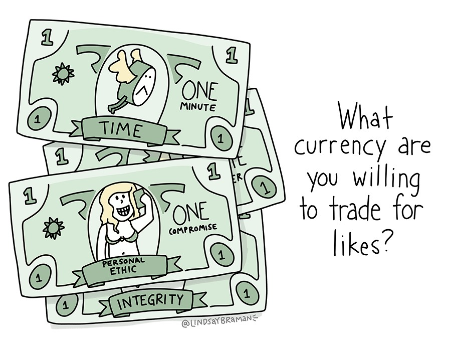 What currency are you willing to trade for likes?
