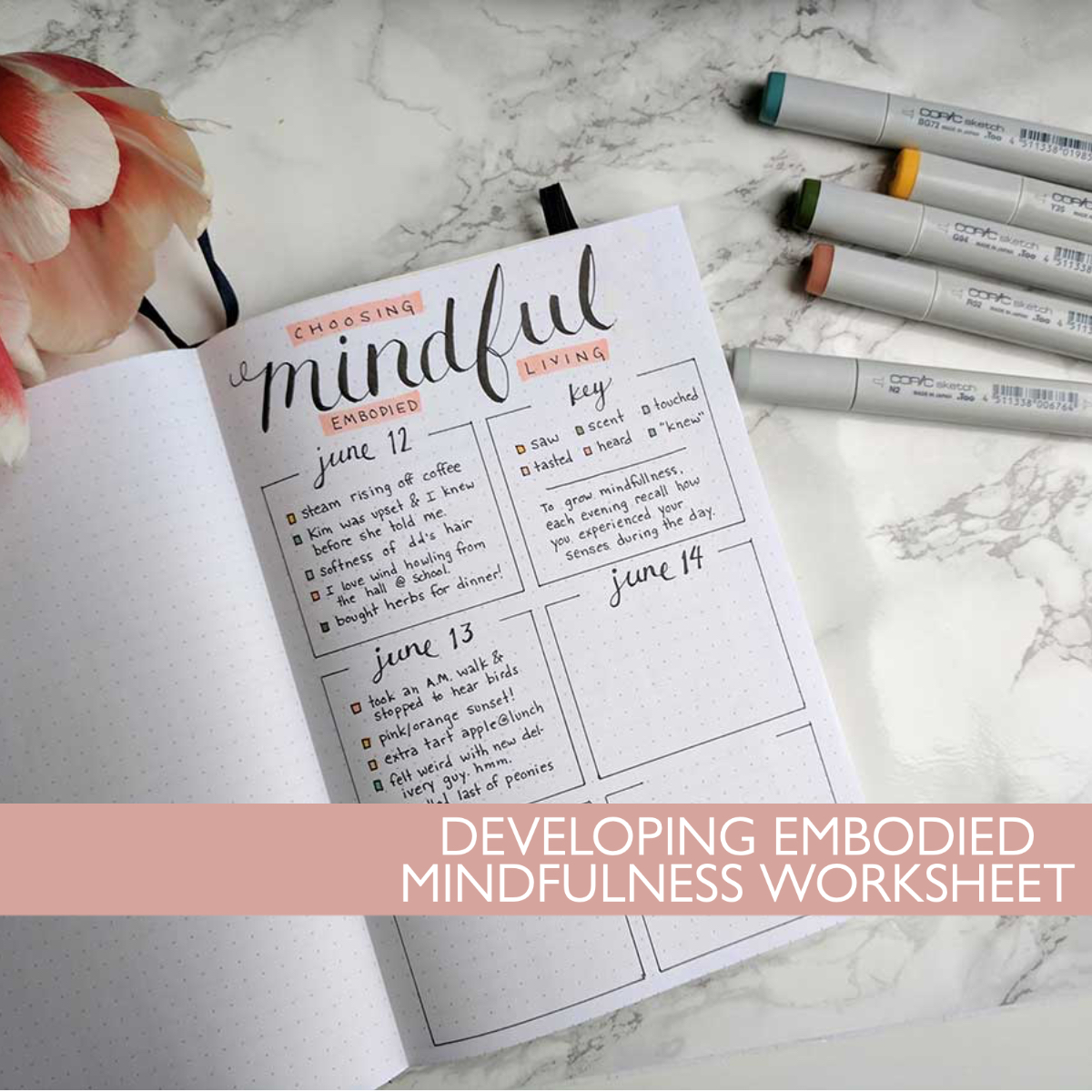 Developing embodied mindfulness worksheet