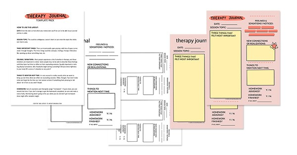 PDF Download versions of the Therapy Journal Template