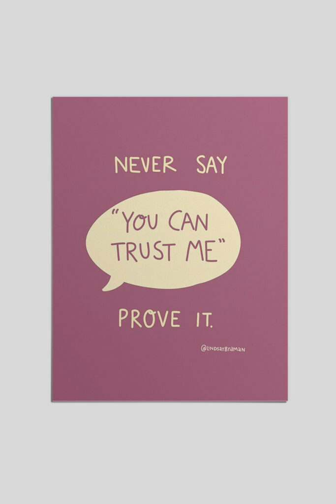 Demonstrating Trustworthiness Builds Bridges that Self-Advertisement Cannot.