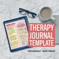 Reflective Therapy Journal Template – Worksheet