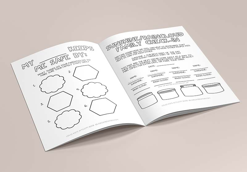 A therapist-designed activity book created to help kids process COVID-19 and thrive beyond quarantine