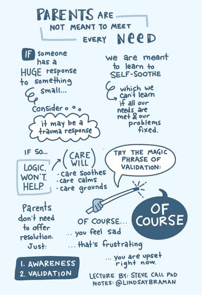 Parenting, trauma, logic and emotional validation