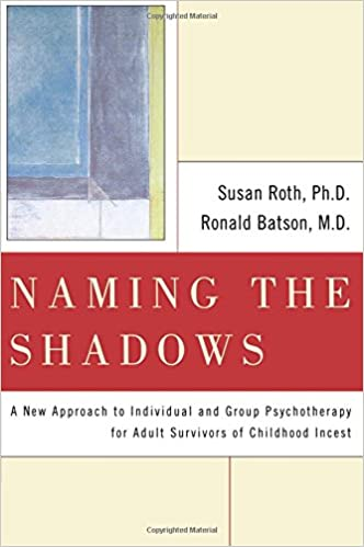 """Image of a book titled """"Naming the Shadows: A New Approach to Individual and Group Psychotherapy for Adult Survivors of Childhood Incest"""" by Susan Roth, Ph.D. and Ronald Baston, M.D."""
