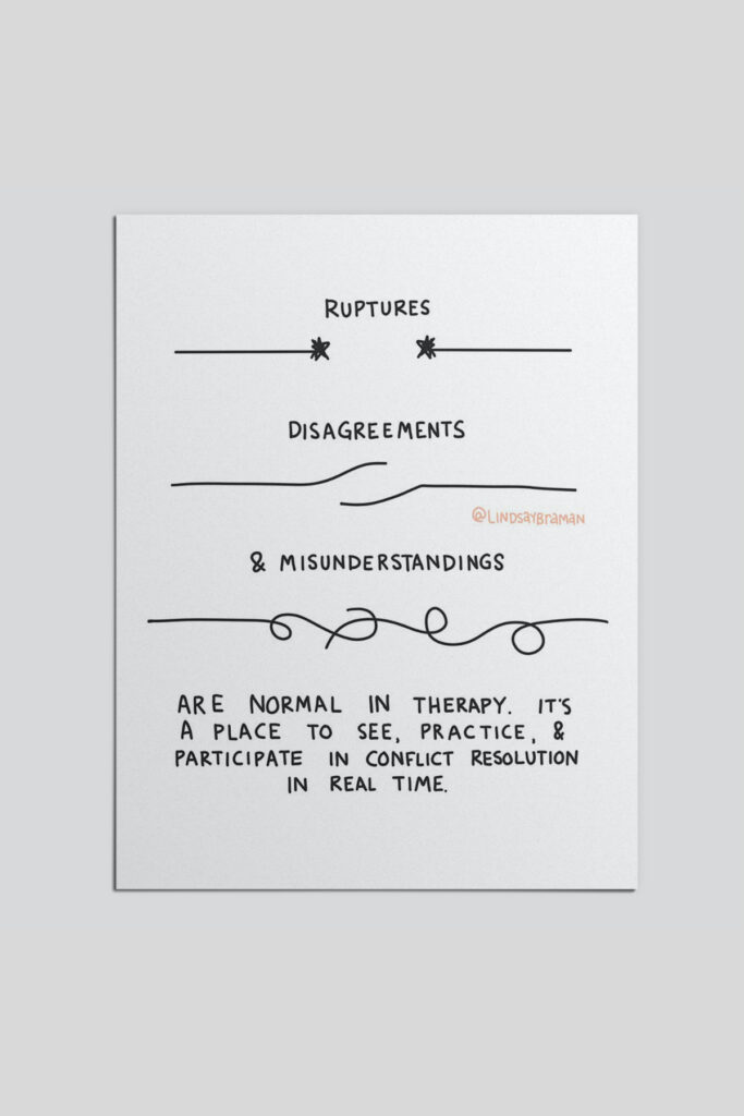 rupture and repair are a part of good therapy