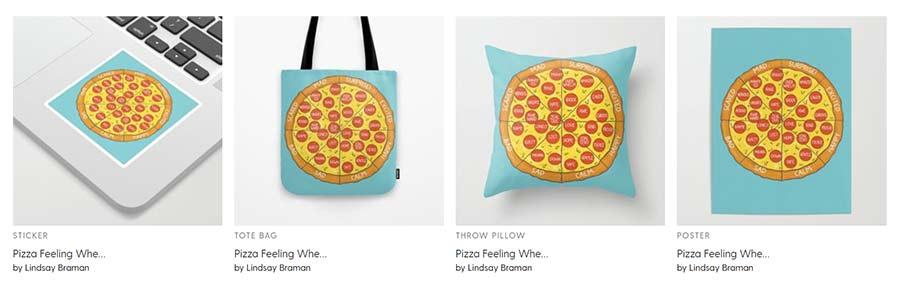 Pizza Emotion Wheel for Kids