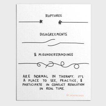 Ruptures, Disagreements, and Misunderstandings in Therapy