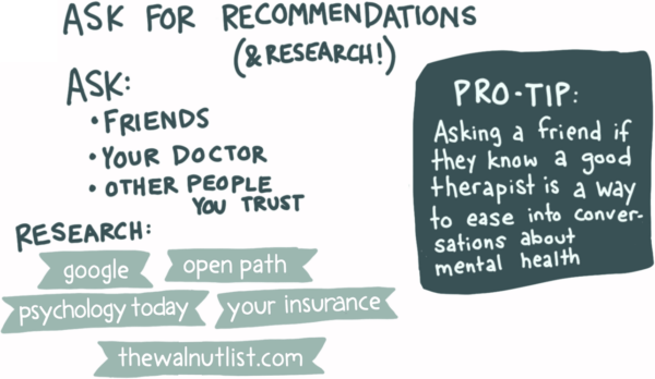 How to get a good referral for a therapist resources
