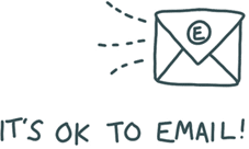 It's okay to email doodle of an electronic envelope