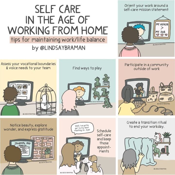 work from home self care