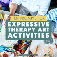 prompts for art projects for therapy groups