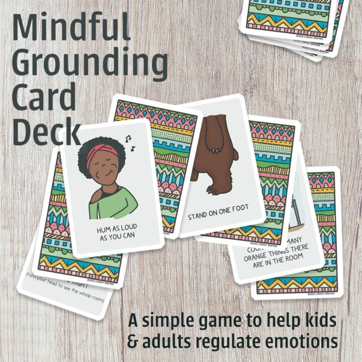 mindfulness grounding cards - trauma-sensitive