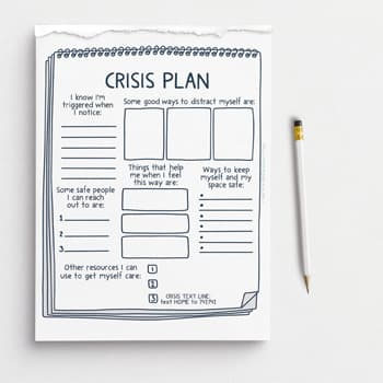 Crisis plan tearaway worksheets