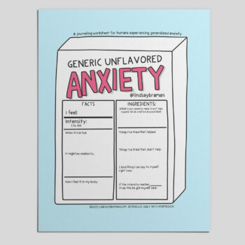 Generalized Anxiety Art: A Doodle About Being Anxious for No Reason
