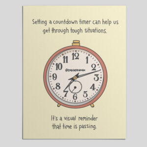 Printable Grounding Visual: Using Countdown Timer for Grounding