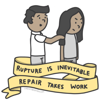 Illustration: Rupture & Repair are Key to Attachment in Healthy Relationships