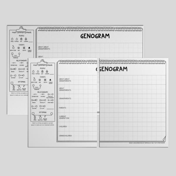 genogram template mockup art.