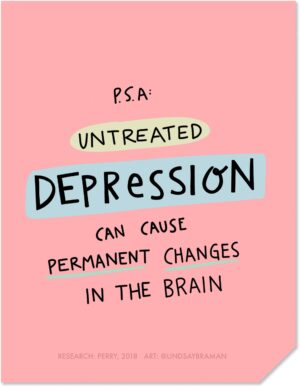 Depression can Cause Permanent Changes in the Brain – Psychoeducational Graphic