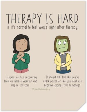 Therapy is (Supposed to Be) Hard – Psychology Art