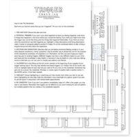 Trigger Tracker Worksheet Printable