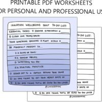 Printable Daily Check-in Worksheet for Mental Wellbeing During COVID Isolation