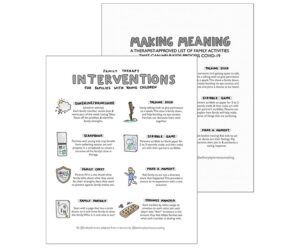 Double Pack: Family Therapy Resources + Meaning Making Activities for Kids during COVID-19 Isolation