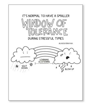 FREE: Window of Tolerance + Stress: Coloring Book Page Teaching Resource