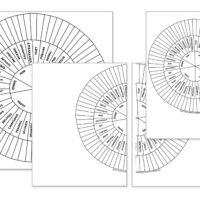 Emotion-Sensation Feeling Wheel Blank Worksheets, Coloring Pages, & XXL Worksheets