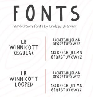 LB Winnicott – A Blocky Handdrawn Header Font