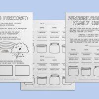 Feeling Forecast – 3 pc Kids Worksheet Set