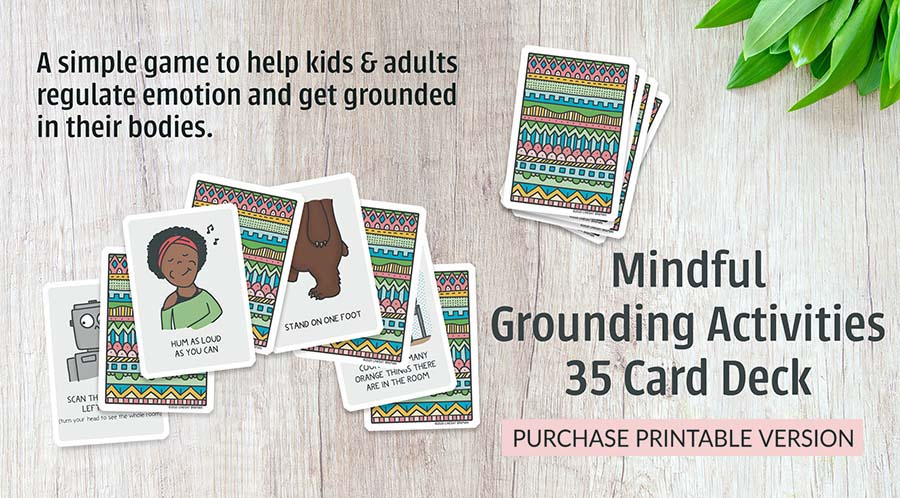 mindful grounding card deck on display