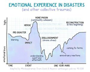 Emotional Experience – Phases of Disaster and Collective Trauma: A Graph