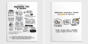 Normal Trauma Responses vs PTSD: Interpreting the Research- Sketchnote + Visual